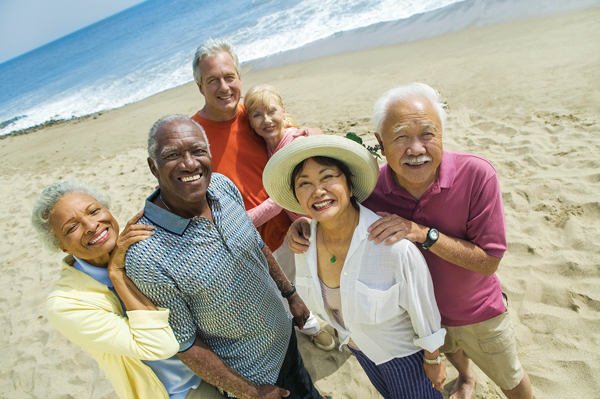 SeniorGroupOnBeach
