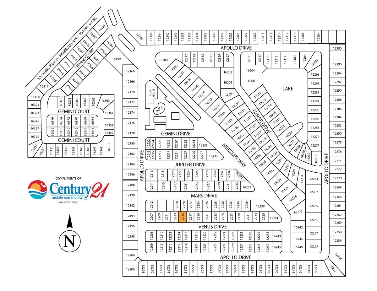 12215 Venus Drive Fort Myers Fl 33908 Century 21 Mobile Home Community
