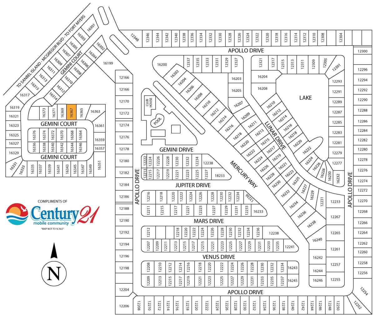 16325 Gemini Court Map